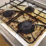 キッチンのガスコンロのクリーニング