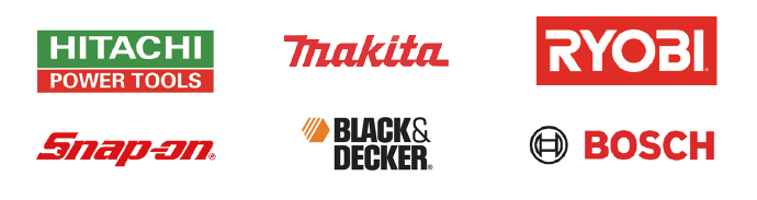 日立工機、マキタ、リョービ、スナップオン、ブラックアンドデッカー、ボッシュなどの電動工具を回収致します。